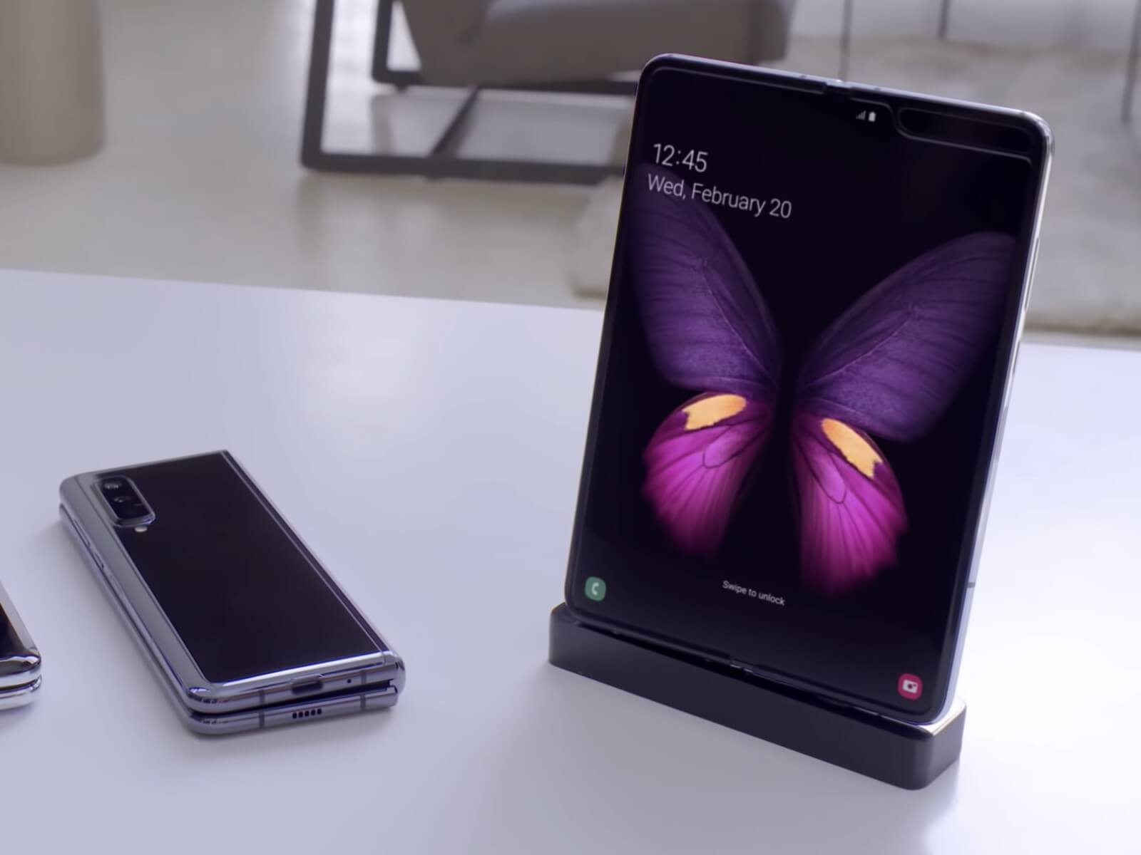 New Samsung Galaxy Fold.smartphone at Mobile World Congress 2019