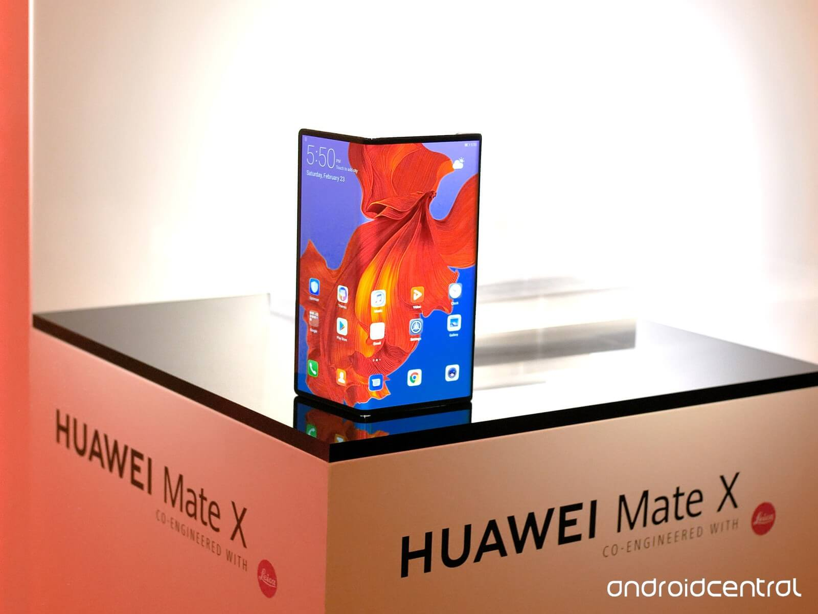 New Huawei Mate X smartphone at Mobile World Congress 2019